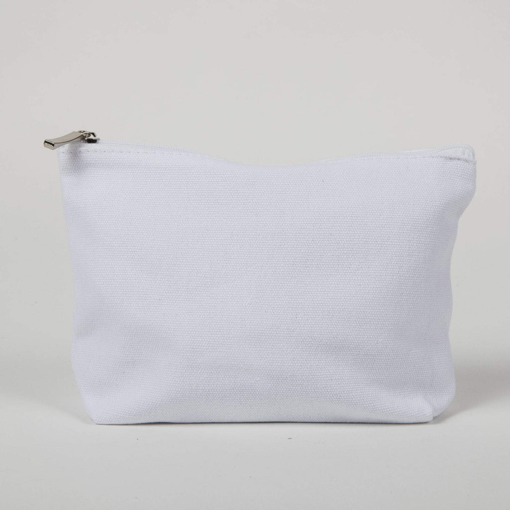 White Cotton Zipper Bag