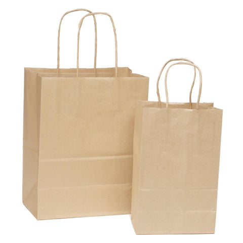 Image of Bags, Ribbons & Tissue 8 x 4.75 x 10.5 in Natural Kraft Bag