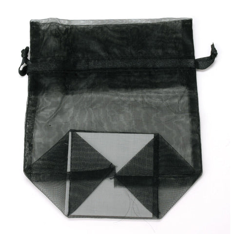 Image of Bags, Ribbons & Tissue Black / Small Organza Bag