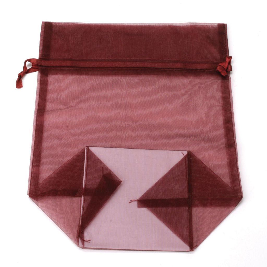 Bags, Ribbons & Tissue Burgundy / Small Organza Bag