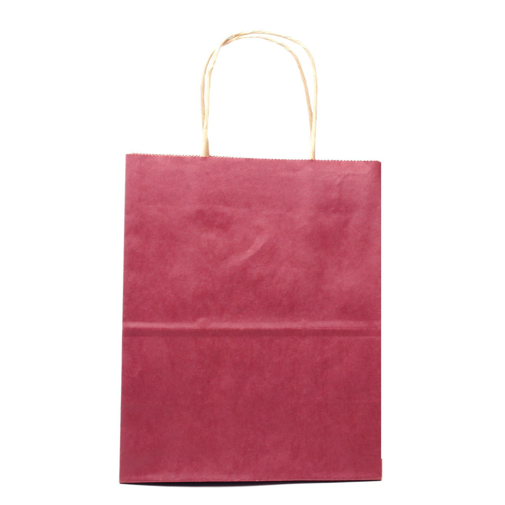 "Bags, Ribbons & Tissue Burgundy Solid Solid Gift Bag 7.75"" x 3.75"" x 9.75"""