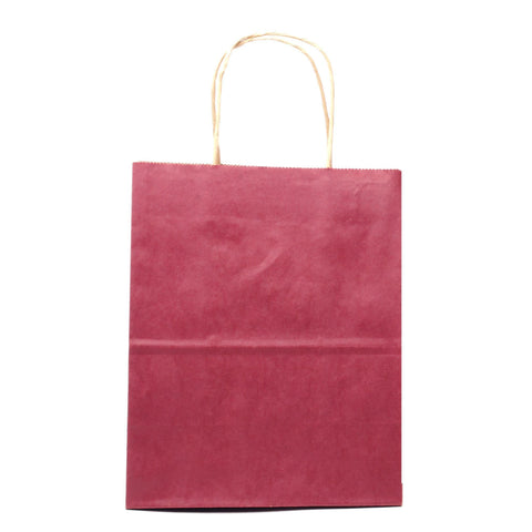 "Image of Bags, Ribbons & Tissue Burgundy Solid Solid Gift Bag 7.75"" x 3.75"" x 9.75"""