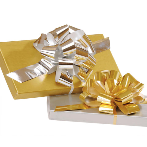 Image of Bags, Ribbons & Tissue Gold Pull Bow / Large