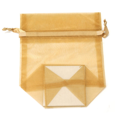 Image of Bags, Ribbons & Tissue Gold / Small Organza Bag