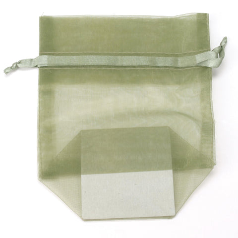 Image of Bags, Ribbons & Tissue Olive / Small Organza Bag