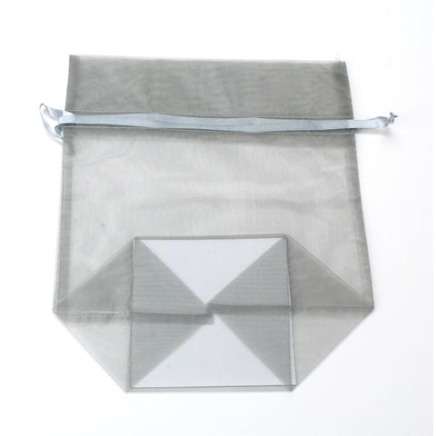 Image of Bags, Ribbons & Tissue Silver / Large Organza Bag