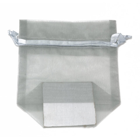 Image of Bags, Ribbons & Tissue Silver / Small Organza Bag