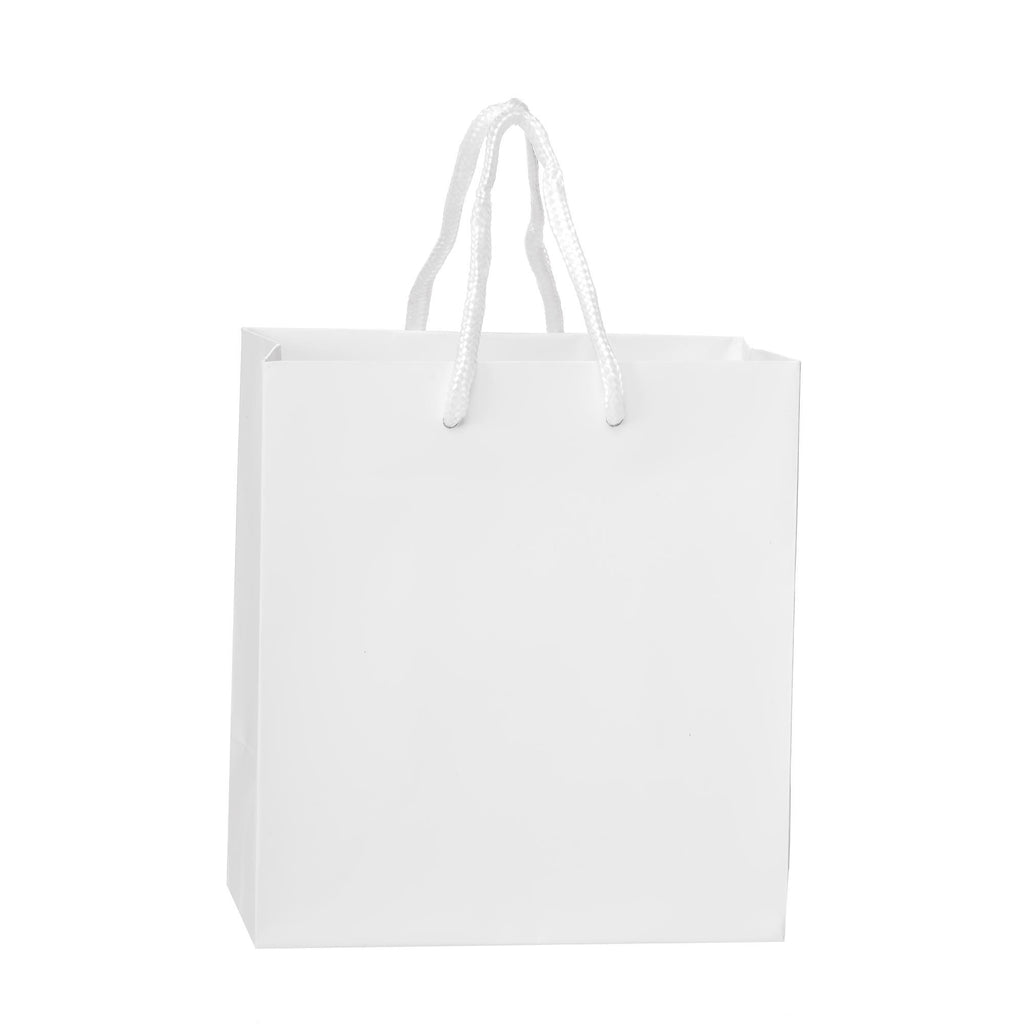 Bags, Ribbons & Tissue White / 6 x 3.5 x 6.5 in Eurotote with Rope Handle / Matte / 8in x 4in x 10in