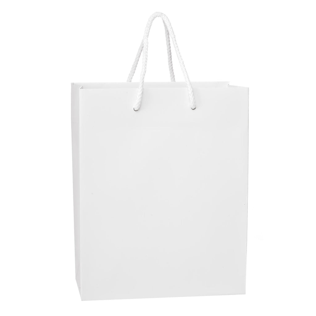 Bags, Ribbons & Tissue White / 8 x 4 x 10 in Eurotote with Rope Handle / Matte / 8in x 4in x 10in