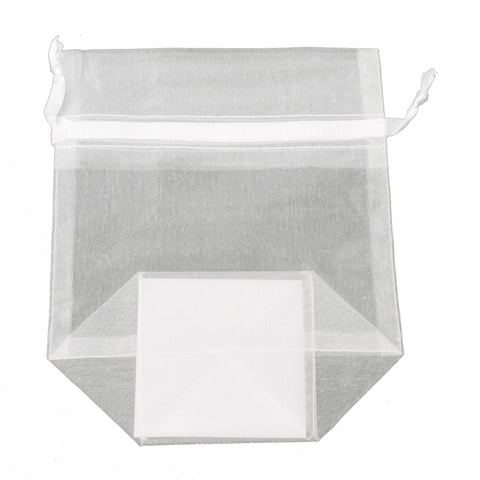 Image of Bags, Ribbons & Tissue White / Small Organza Bag