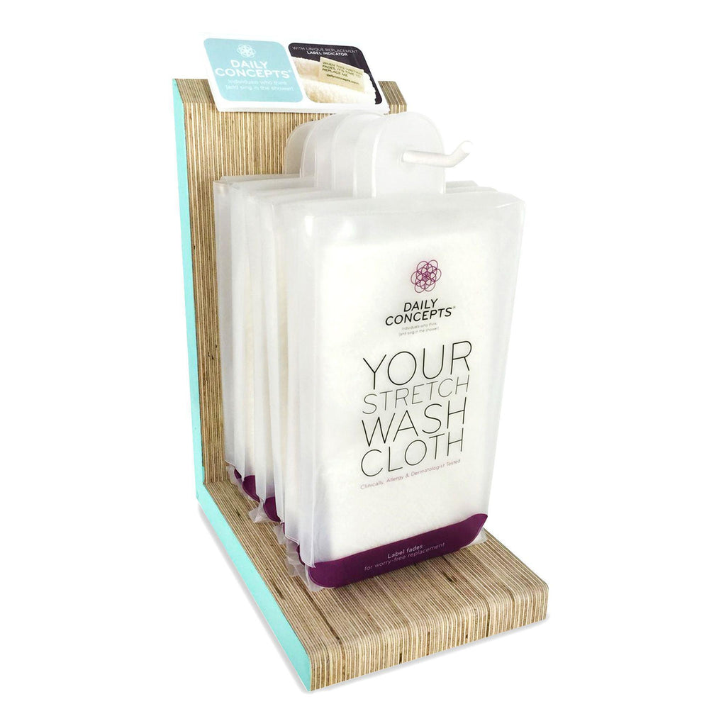 Daily Concepts Your Stretch Wash Cloth Display