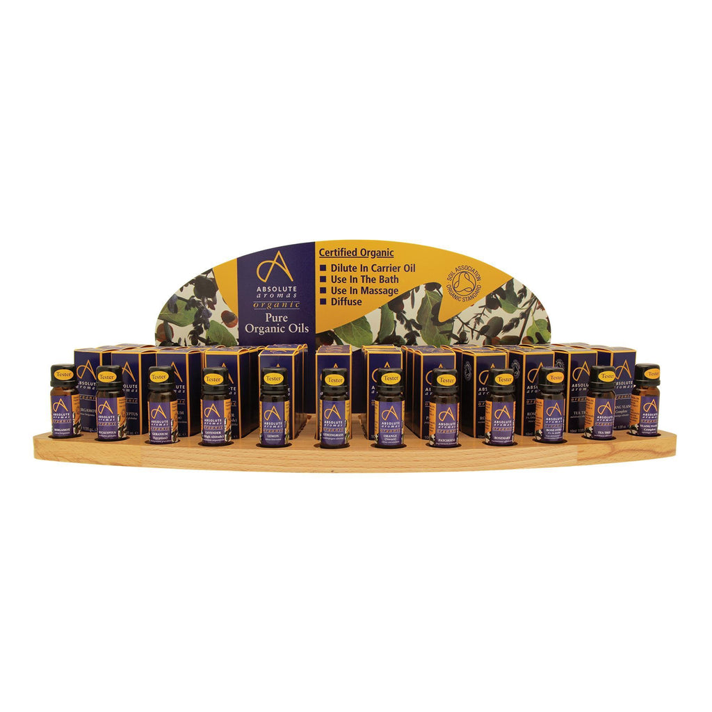 Blended Notes Absolute Aromas Organic Essential Oils Intro Display Package
