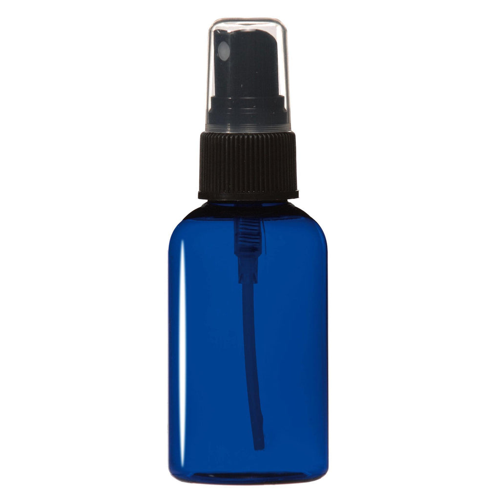 Bottles & Jars 2 oz. PET Bottle with Atomizer / Cobalt Blue