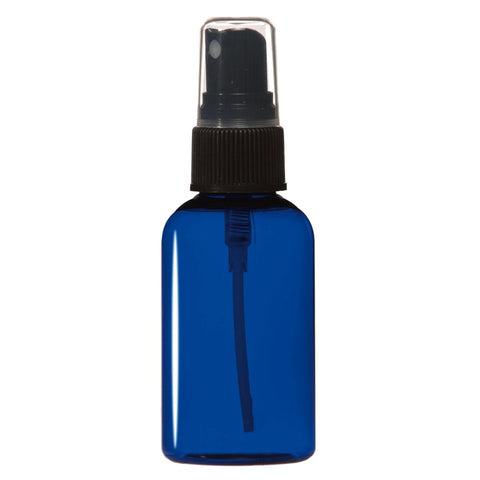 Image of Bottles & Jars 2 oz. PET Bottle with Atomizer / Cobalt Blue