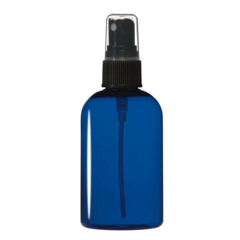 Image of Bottles & Jars 4 oz. PET Bottle with Atomizer / Cobalt Blue