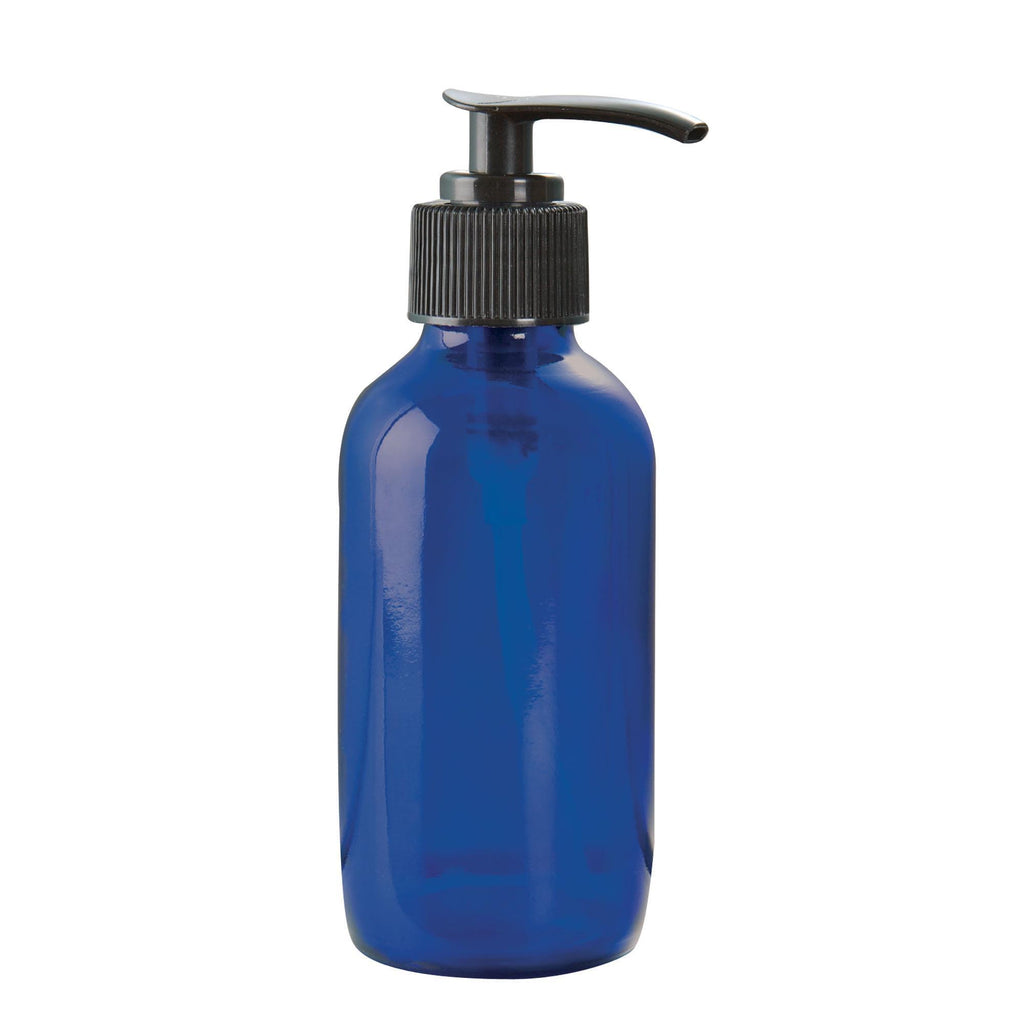 Bottles & Jars Bottle w/Pump / Glass / Cobalt Blue / 4oz