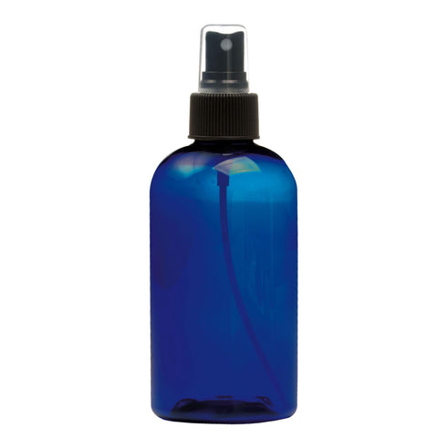 Image of Bottles & Jars 8 oz. PET Bottle with Atomizer / Cobalt Blue