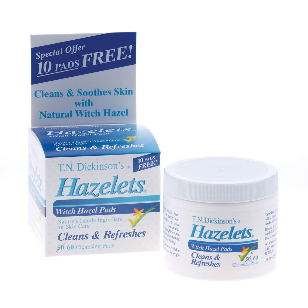 Cleansers & Removers Witch Hazelets Pads / 60pc