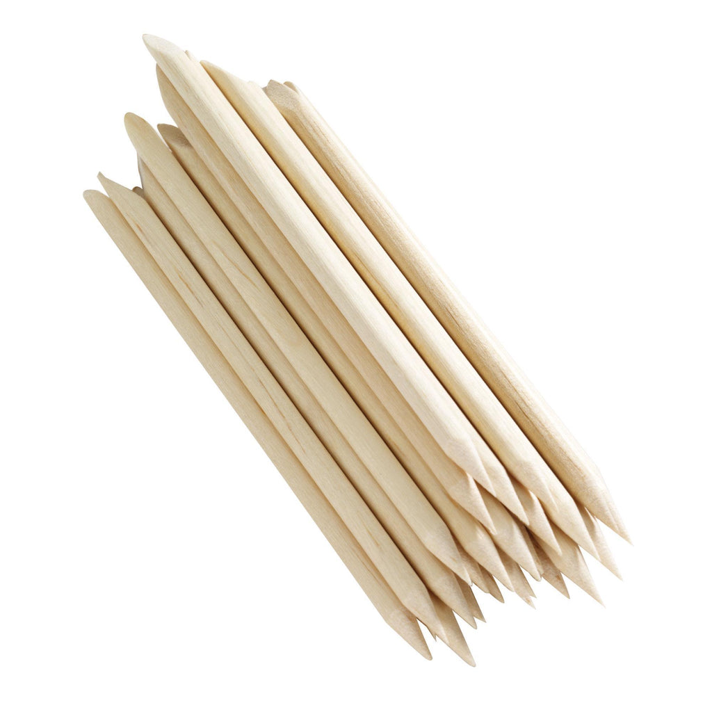 "Cuticle Pushers HandsDown 4"" Birchwood Cuticle Sticks / 100 count"