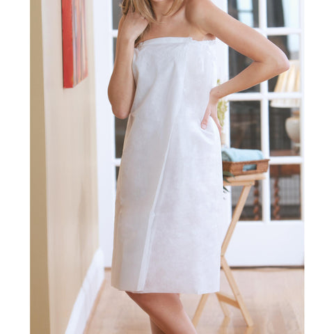 Image of Disposable Apparel White / Small/Medium Canyon Rose Disposable Spa Wrap