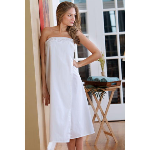 Image of Disposable Linens & Apparel White / Regular Body Wrap / Poly-Cotton