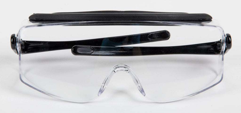 Eye Protective Safety Glasses with Black Trim