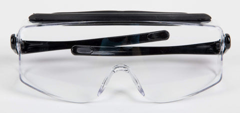 Image of Eye Protective Safety Glasses with Black Trim