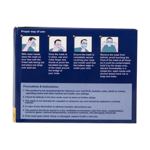 Image of 3-Ply Disposable Face Mask, 50 ct
