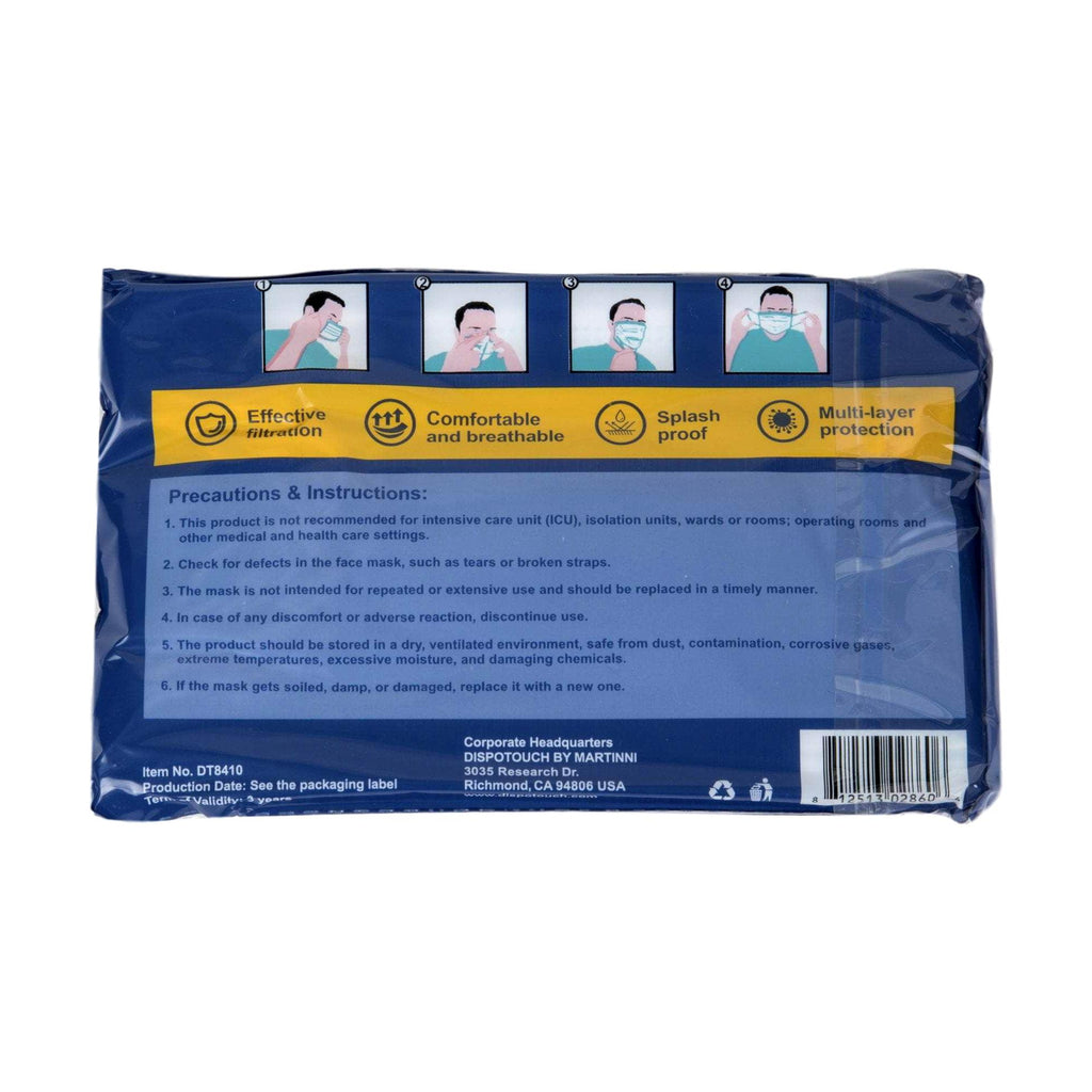3-Ply Disposable Face Mask, 50 ct