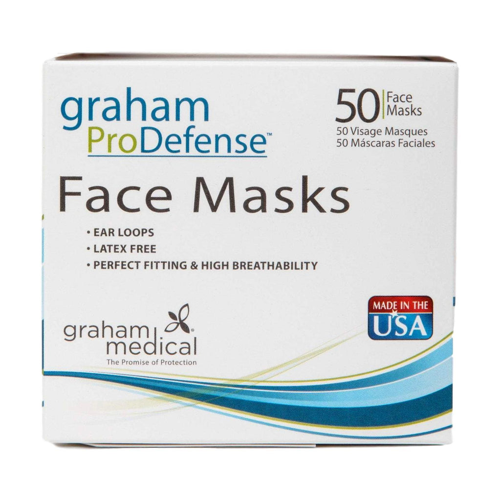 Face Masks & Eyewear Graham Medical Disposable Ear Loop Face Mask, 50 Count