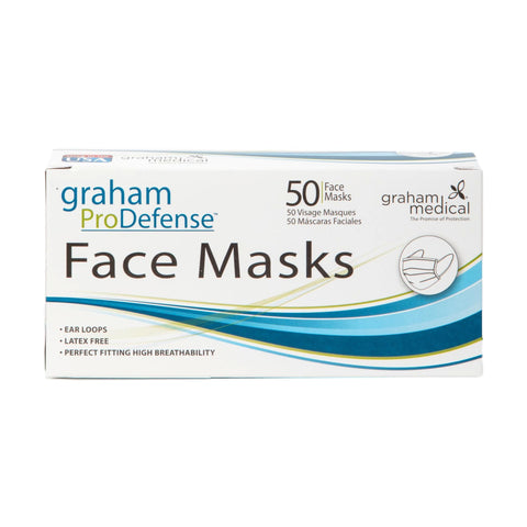 Image of Face Masks & Eyewear Graham Medical Disposable Ear Loop Face Mask, 50 Count