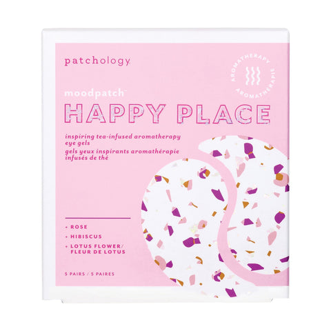 Image of Face Masks & Eyewear Patchology Moodpatch Happy Place Inspiring Tea-Infused Aromatherapy Eye Gels, 5 Pairs