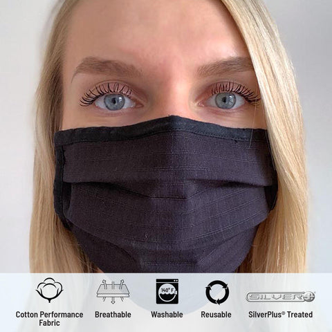 Image of Solid Pleated Wellness Face Mask by Fashionizer Spa Uniforms