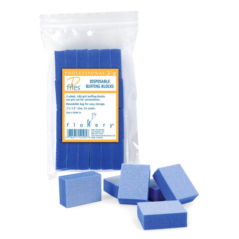 Image of Files, Buffers, Brushes & Pumi Flowery Disposable Buffing Blocks / Mini / 24pc