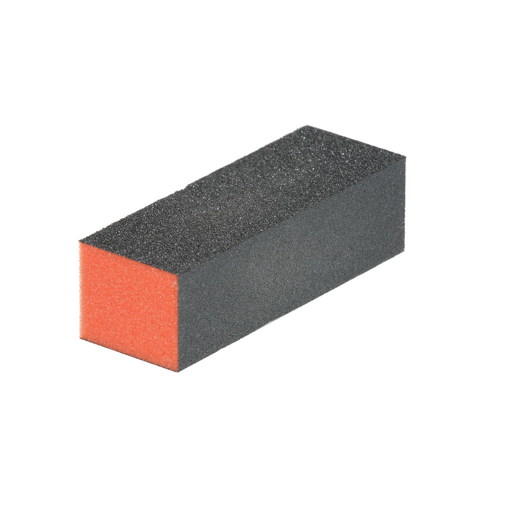 Files, Buffers, Brushes & Pumi Buffer Block / Medium-Fine Grit / Orange-Black