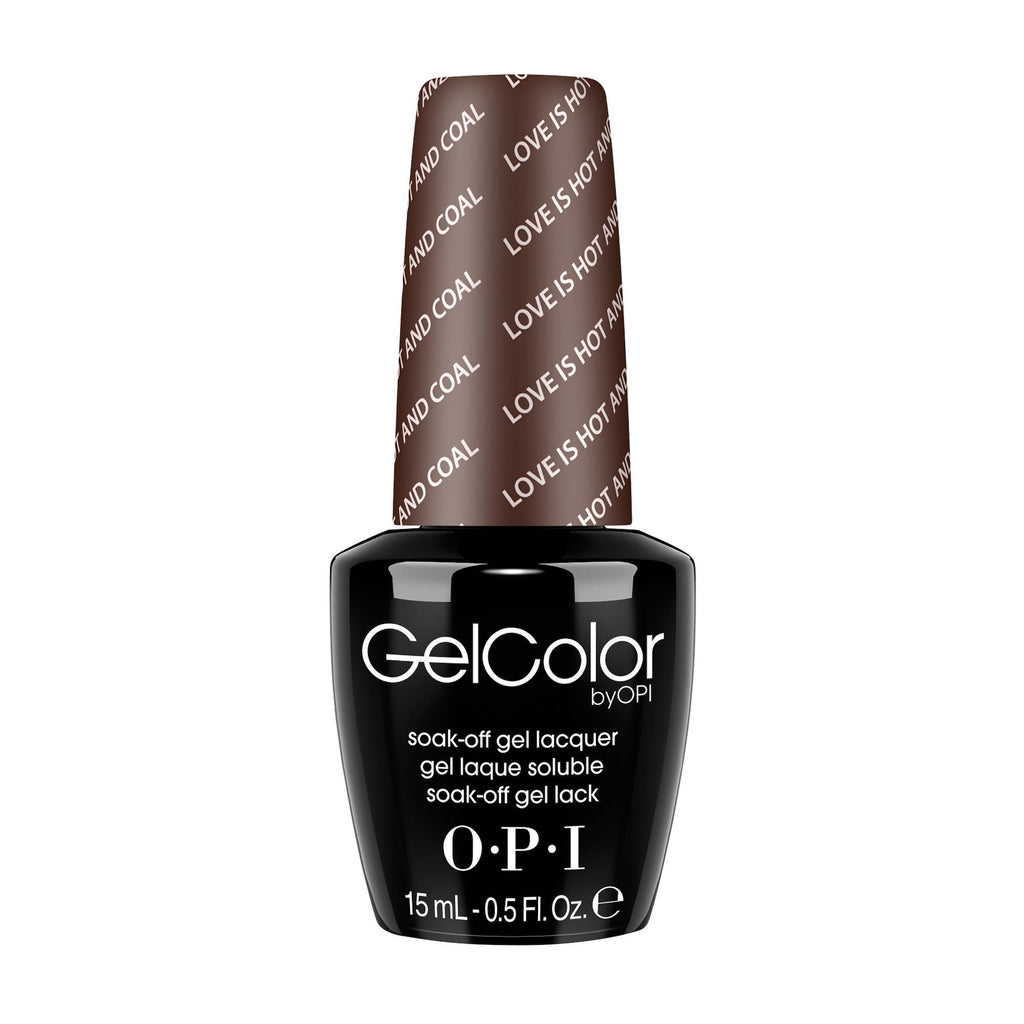 Gel Lacquer OPI Love is Hot  and  Coal! / GelColor