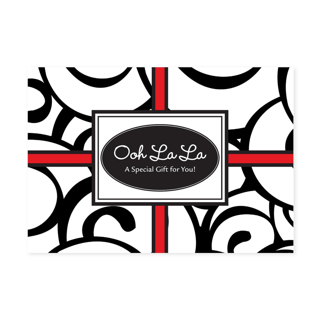 Gift Certificate Cards Gift Certificate / Ooh La La / 25 Count