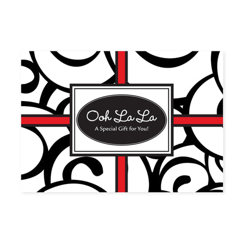 Image of Gift Certificate Cards Gift Certificate / Ooh La La / 25 Count