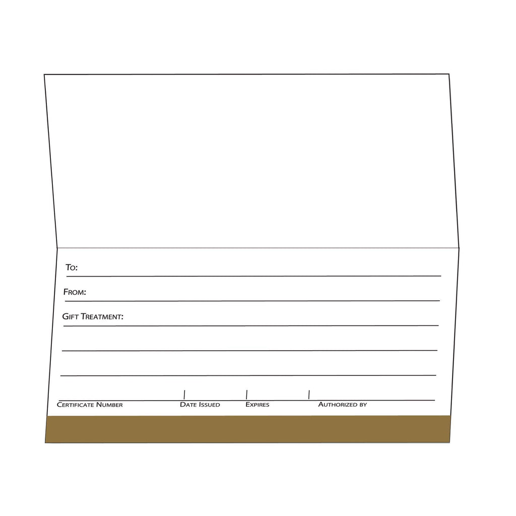 Gift Certificate Cards Golden Ornate Design Gift Certificate / Golden Ornate Design / 25pc