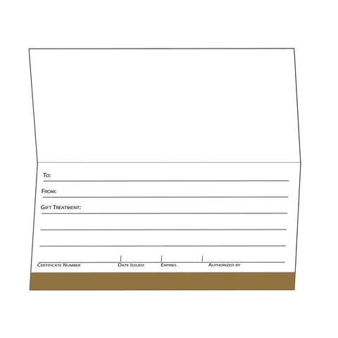 Image of Gift Certificate Cards Golden Ornate Design Gift Certificate / Golden Ornate Design / 25pc