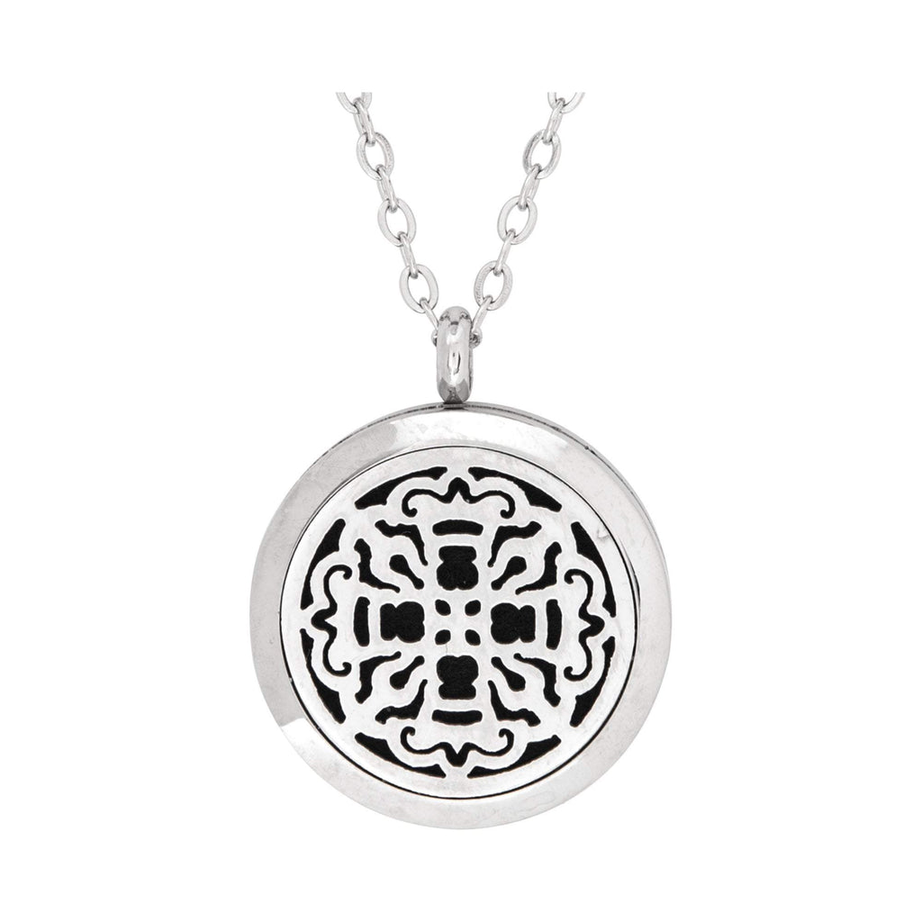 Jewelry Ancient Cross Aromatherapy Locket Necklace