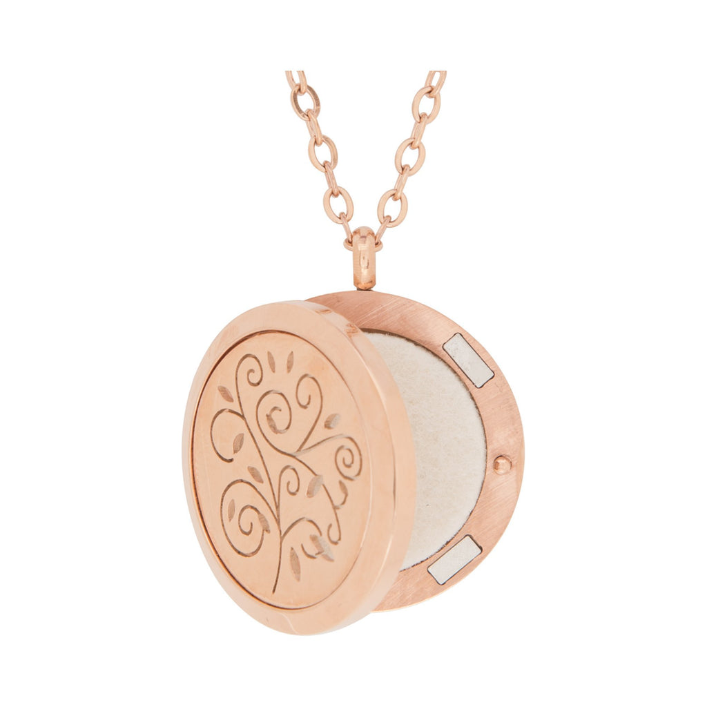 Jewelry Stainless Steel Rose Gold Swirls Pendant