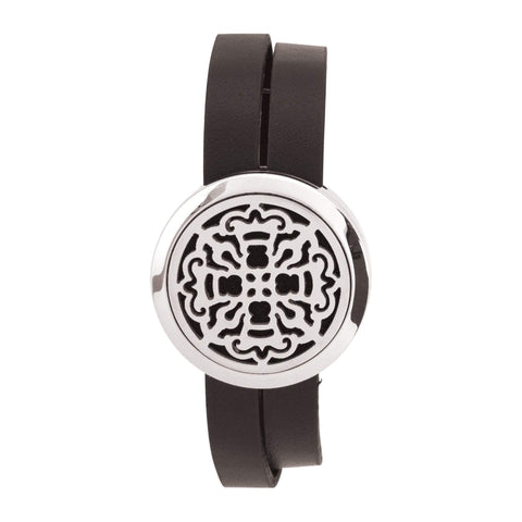 Image of Jewelry Ancient Cross Aromatherapy Locket Bracelet