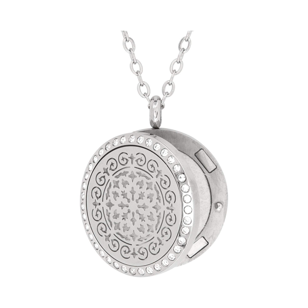 Jewelry Stainless Steel Siren Crystals Pendant