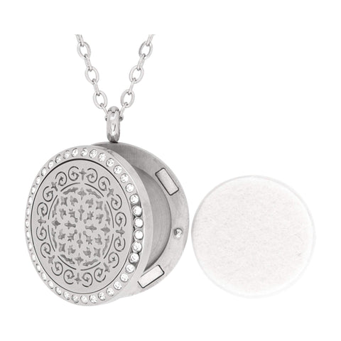 Image of Jewelry Stainless Steel Siren Crystals Pendant