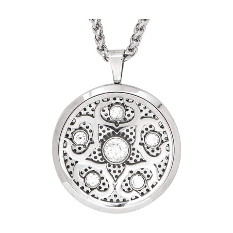 Image of Jewelry Crystalized Aromatherapy Locket Necklace