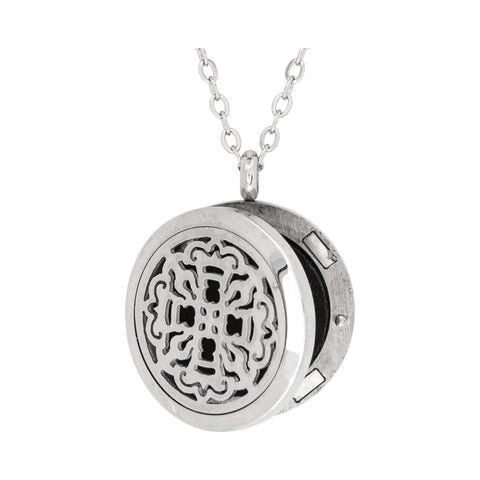 Image of Jewelry Ancient Cross Aromatherapy Locket Necklace