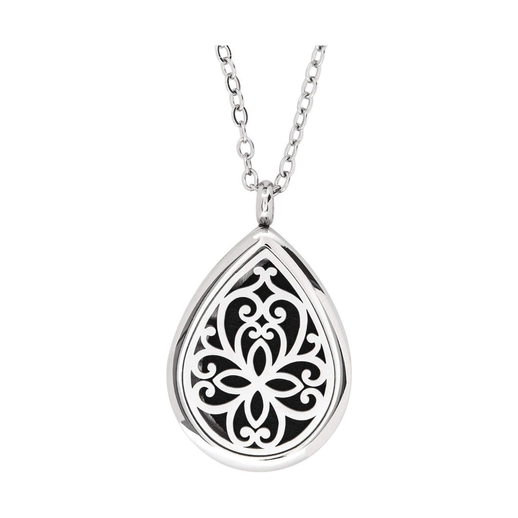 Jewelry Stainless Steel Floral Tear Drop Pendant