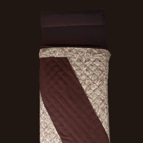 Image of Linens White Sapphire Paisley Face / White Solid Back Sposh Massage Table Saddle Paisley Collection