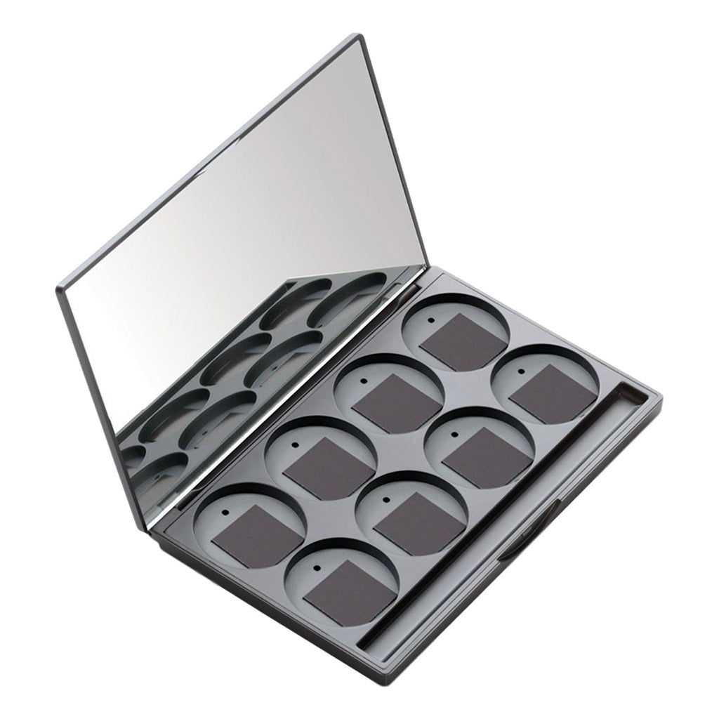 MUD Refillable Compact & Empty Palette, 8 Hole 6-Eye/2-Cheek